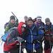 ..in vetta alla Punta Castore (4223 m)..prima linea: Mattia e Claudio..seconda linea: Francesco, Ezio e Riccardo...terza linea: Luca