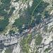 Steckenberg: Schlüsselstelle von der Meglisalp aufgenommen