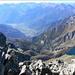 Blick vom Gipfel nach Chiavenna.