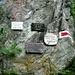 Départ du sentier vers la Rottalhütte