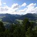 """Ausblick von der """"Mot"""" ins Unterengadin von ca. 2200m, oberhalb den Hütten von S-chalambert"""