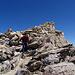 [u 360] leaving the summit, easy scrambling over blocks and scree.