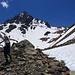 """Descending Horse Creek Valley, in the background the North-Western Summit/Subpeak of Twin Peaks, aka """"Horse Creek Peak"""""""