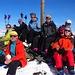Barbara, Dieter, Urban, Caro, Agnes, Michael, Tanja auf dem Gipfel des Piz Minschuns
