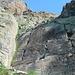 La famosa scaletta al Passo della Rossa.
