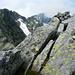 Der Gipfel der Cima di Catögn mit Blick zu den Gemelli, Colmetta und Rosso di Ribia