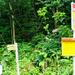 Die Postauto-Haltestelle und der Weg von der Bocchetta di Cansgai