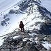 Am Grat hinauf zum Kleinen Gjaidstein