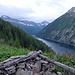 Tag 13: Morgendliche Aussicht vom Camp oberhalb des Lago del Sambuco.