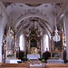 La chiesa vecchia di Lech am Arlberg con i suoi tre altari barocchi.