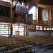 L'interno della chiesa nuova di Lech am Arlberg.