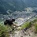 Das Dorf Zermatt im Blick.