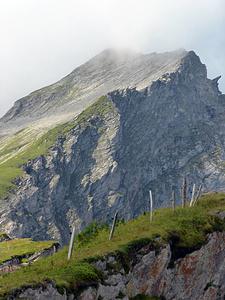 Ostflanke Rossfallenspitz und den zu begehenden Grat.