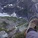 Tiefblick vom Chrinnenhorn zur Glecksteinhütte
