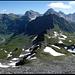 Schollengrat, unterhalb Punkt 2803, Blick zurück (der Aufstieg erfolgte durch das Tal auf der rechten Seite).