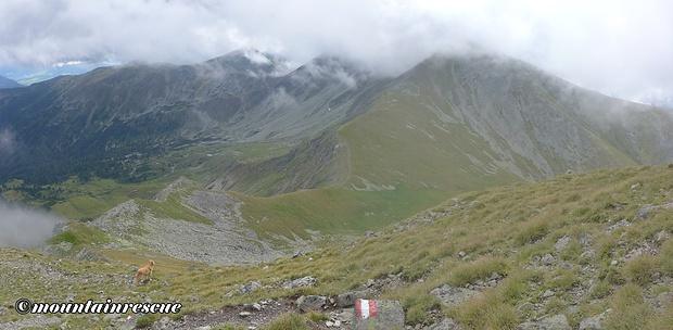 Steiler Abstieg zum Vorwitzsattel