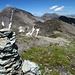 Tällihorn, 2820 m, auf dem Gipfel.