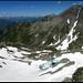 Tällihorn, 2820 m, auf dem Gipfel. Blick zurück zum Bärenhorn.