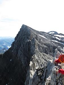 Blick auf die eigentliche Kletterei.