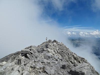 Vrenelisgärtligipfel, wie immer mit Wolken ;)