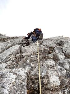 Start in die Seillänge mit der schönsten Kletterei.