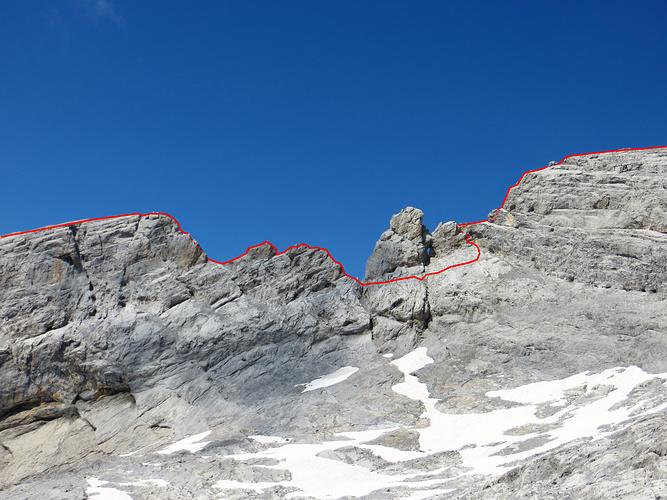 Ruchen Westgrat Route.