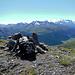 Am Gipfel des Piz Belvair. Ein grandioser Aussichtspunkt, wie sein Name verrät.