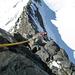 Im Aufstieg zur Lenzspitze