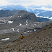 Abstieg vom Arpelistock, im Blickfeld Le Sérac