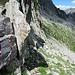 Ai piedi delle roccette della Bocchetta di Correggia, il bivio verso il Forcellino del Notaro