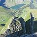 Teifblick über den vordersten Turm auf die Bannalp