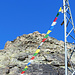 Blick von der Georgy-Hütte hinauf zum Gipfel. Blockkraxelei - ich empfehle, die Stöcke bei der Hütte zu deponieren.