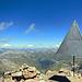Der Triangulationspunkt am Gipfel des Piz Languard.