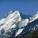 Ein selten schöner Anblick des Piz Bernina mit dem Bianco-Grat, Aufnahme ebenfalls von der Alp Languard aus, dem Ausgangspunkt der Tour.