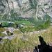 Aufstieg zum Galenberg mit Tiefblick ins Mattertal