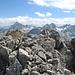 Auf dem Hauptgipfel des Piz d' Alp Val, Blick nach Westen