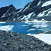 Oberer Rifflsee mit Eiskruste und Eisschollen