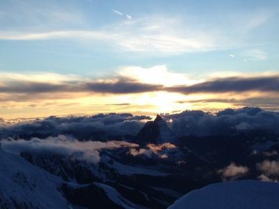 Blick runter auf das Matterhorn