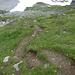 das Weglein nördlich der Geröllhalde, welche zur Fuorcla da Crispalt führt