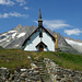 Kapelle Belalp. Im Hintergrund die Fusshörner