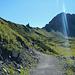 Dem Weg hinauf zur Lünerkrinne folgt man nur für wenige Meter.