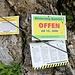 Wegen Naturschutz erst ab 15. Juni offen