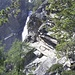 Wegverlauf am Wasserfall
