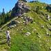 Aufstieg von Chli Chrinde zum Trogenhorn.