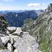 La bocchetta di quota 2284 metri con vista sulla Valle d'Osura.