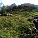 Bereits im Aufstieg zur Seewenhütte verlockend: die markante Epp Verschneidung am Hoch Seewen Westgratturm