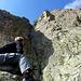 Seltene Momente im Sommer 2014: sonniger Rückblick auf die Epp-Verschneidung beim Gipfel-Marker