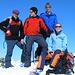 Peter, Cyrill, Daniel und Königin Tanja auf dem Piz Turbo 3018m