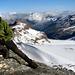 veduta dalla vetta sul versante francese glacier de rochemelon
