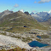 Blick ins Val Maighels (rechts) vom Passo Bornengo.